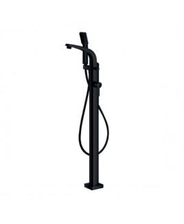 Monocomando de piso para banheira com ducha manual Off Black Doka