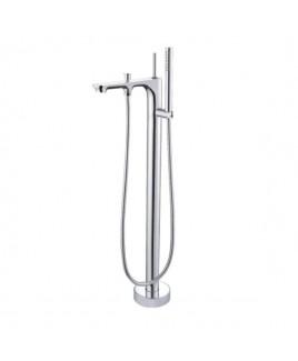 Monocomando de piso para banheira com ducha manual Moove Chrome Doka