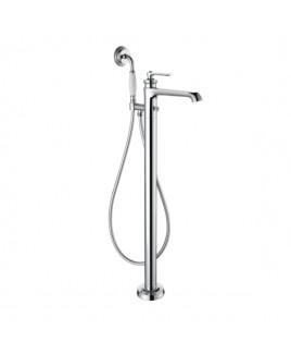 Monocomando de piso para banheira com ducha manual Ever Chrome Doka