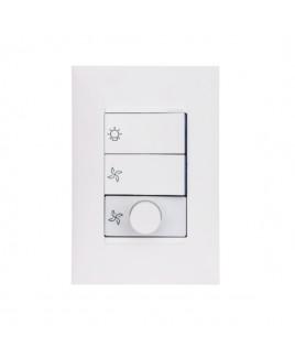 Conjunto Variador Rotativo para Ventilador Bivolt 160VA Branco Plus+ Pial Legrand