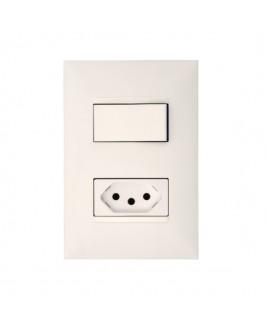 Conjunto Interruptor Paralelo 10A/Tomada Energia 10A Branco Plus+ Pial Legrand