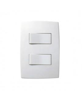 Conjunto Interruptor Simples 10A Duplo Pial Plus Pial Legrand