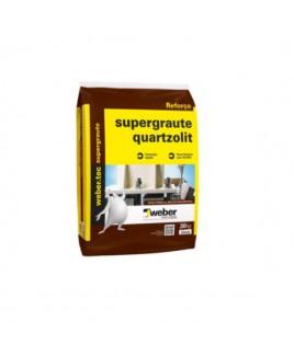Argamassa SuperGraute Interno e Externo Cinza 25kg Quartzolit