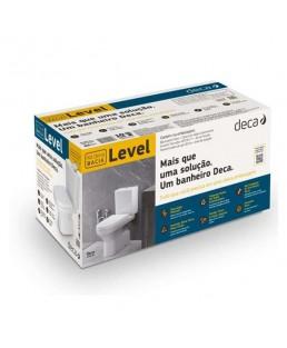 Kit completo Bacia com caixa acoplada Level Deca KP.480.17
