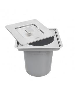 Lixeira Inox Embutir Clean Square 5 Litros 94518/205
