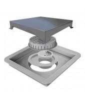 Ralo Linear Elleve Square Tampa Inox 15 x 15 cm - 210