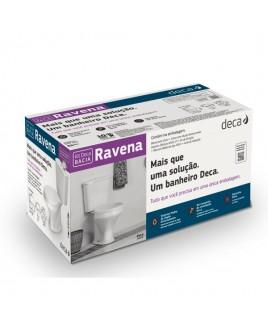 Kit completo Bacia com caixa acoplada Ravena Deca KP.909.17