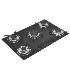 Cooktop Vidro Tramontina Gas Glass 5 bocas Brasil 5GG70 94708/501