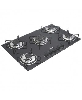 Cooktop Vidro Tramontina Gas Glass Brasil 5 bocas 5GGTRI70 94708/502
