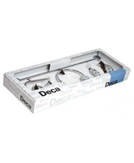KIT ACESSÓRIOS 5 PEÇAS FLEX (Saboneteira,papeleira,cabide,porta argola e barra) Deca 2000.C.FLX