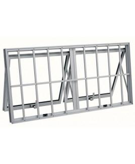 Janela Dupla horizontal Maxim-Ar com grade vidro mini boreal 060x120x4,7 Sasazaki